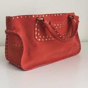 Authentic Celine Boogie Studded Suede Leather Tote